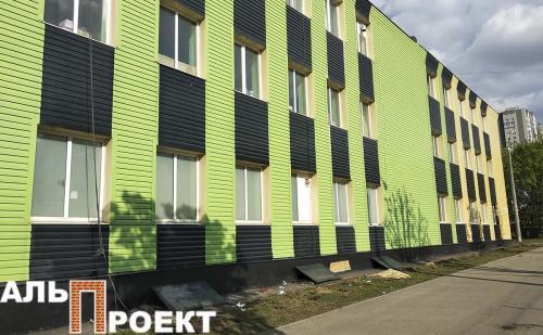 окраска здания к европейским играм