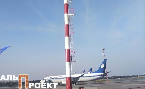 окраска трубы в аэропорту